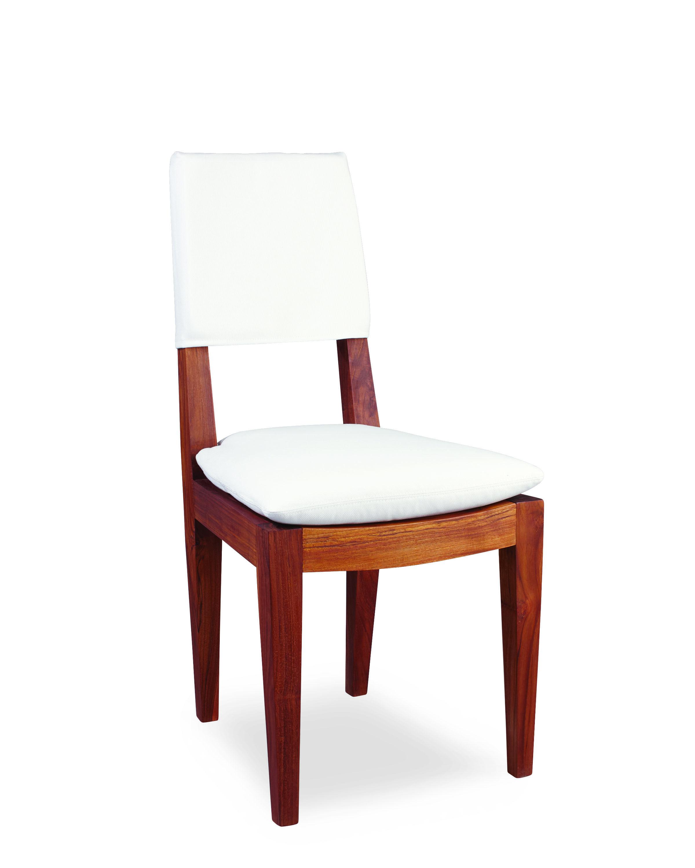 Lee Industries Teak Outdoor Chair In Spinnaker Salt