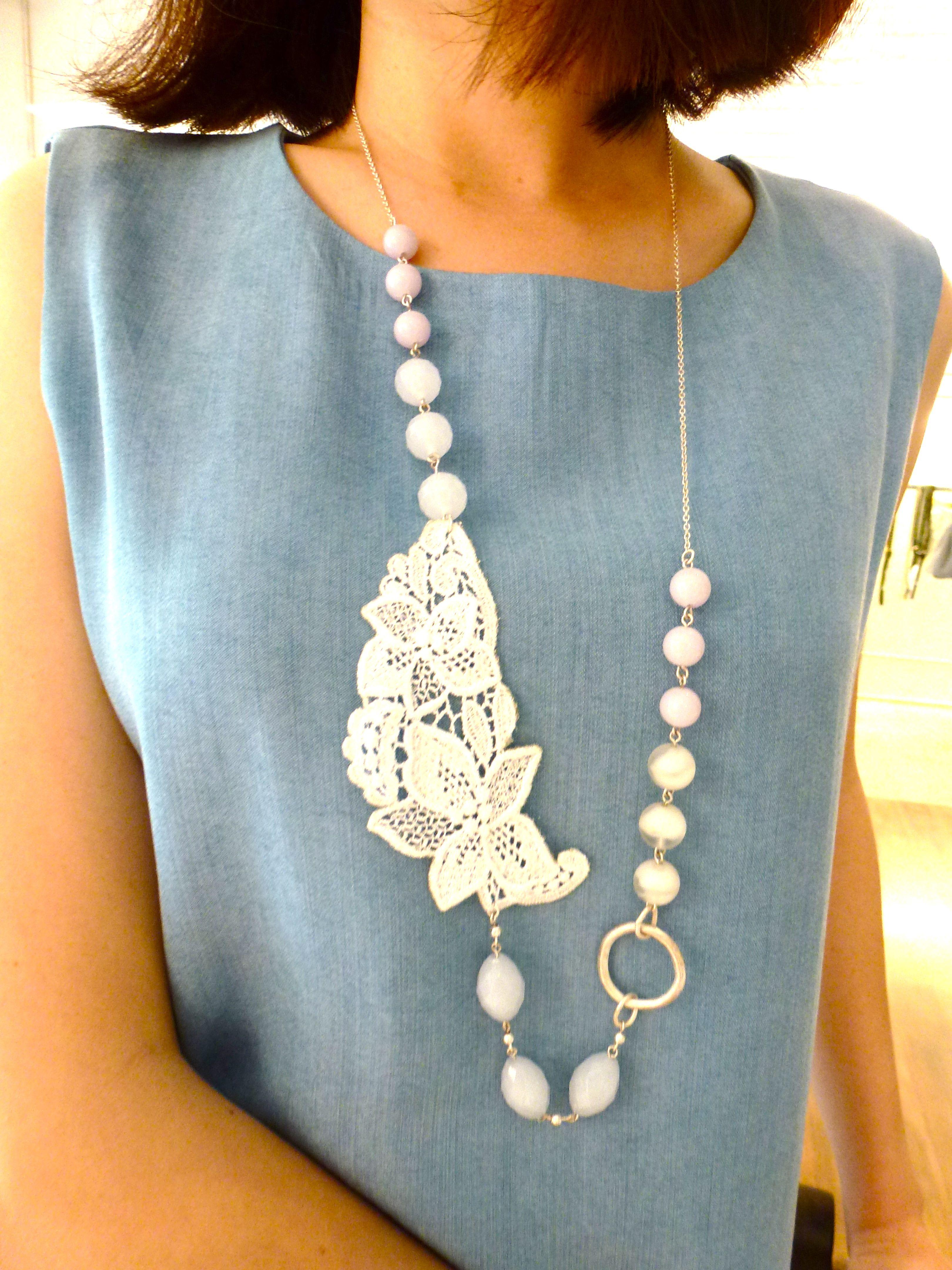 denim + lace + stone = elegance