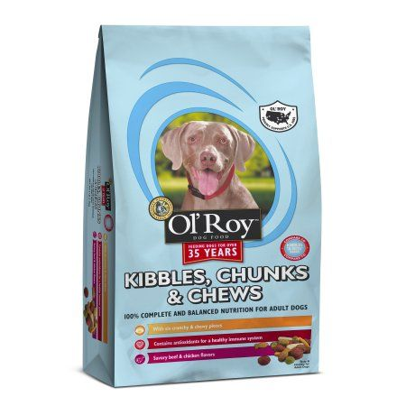 Ol Roy Kibbles Chunks Chews Dry Dog Food 4 Lb Capacity Dry