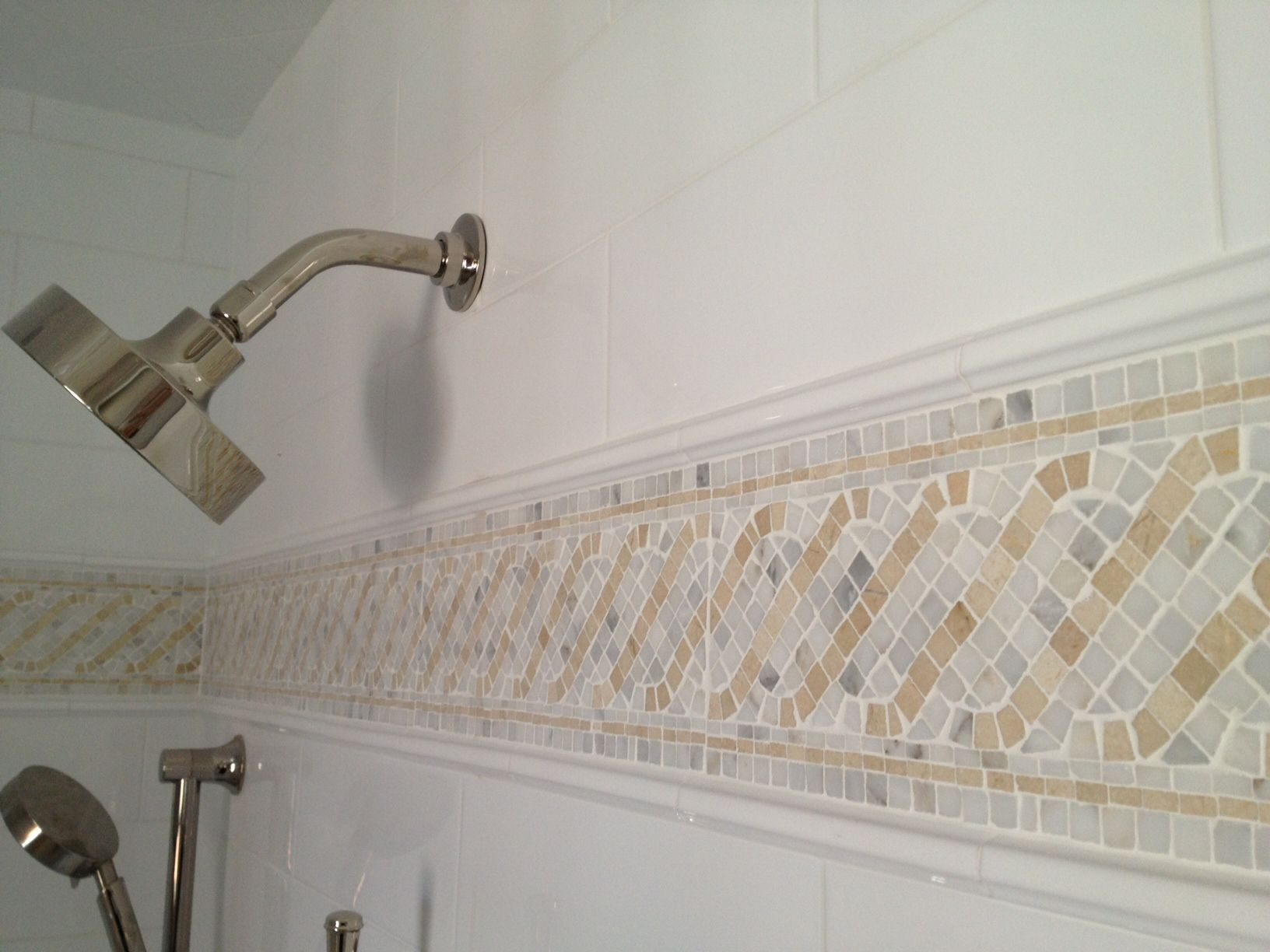 Color Design in Our Master Bathroom Grey bathroom tiles