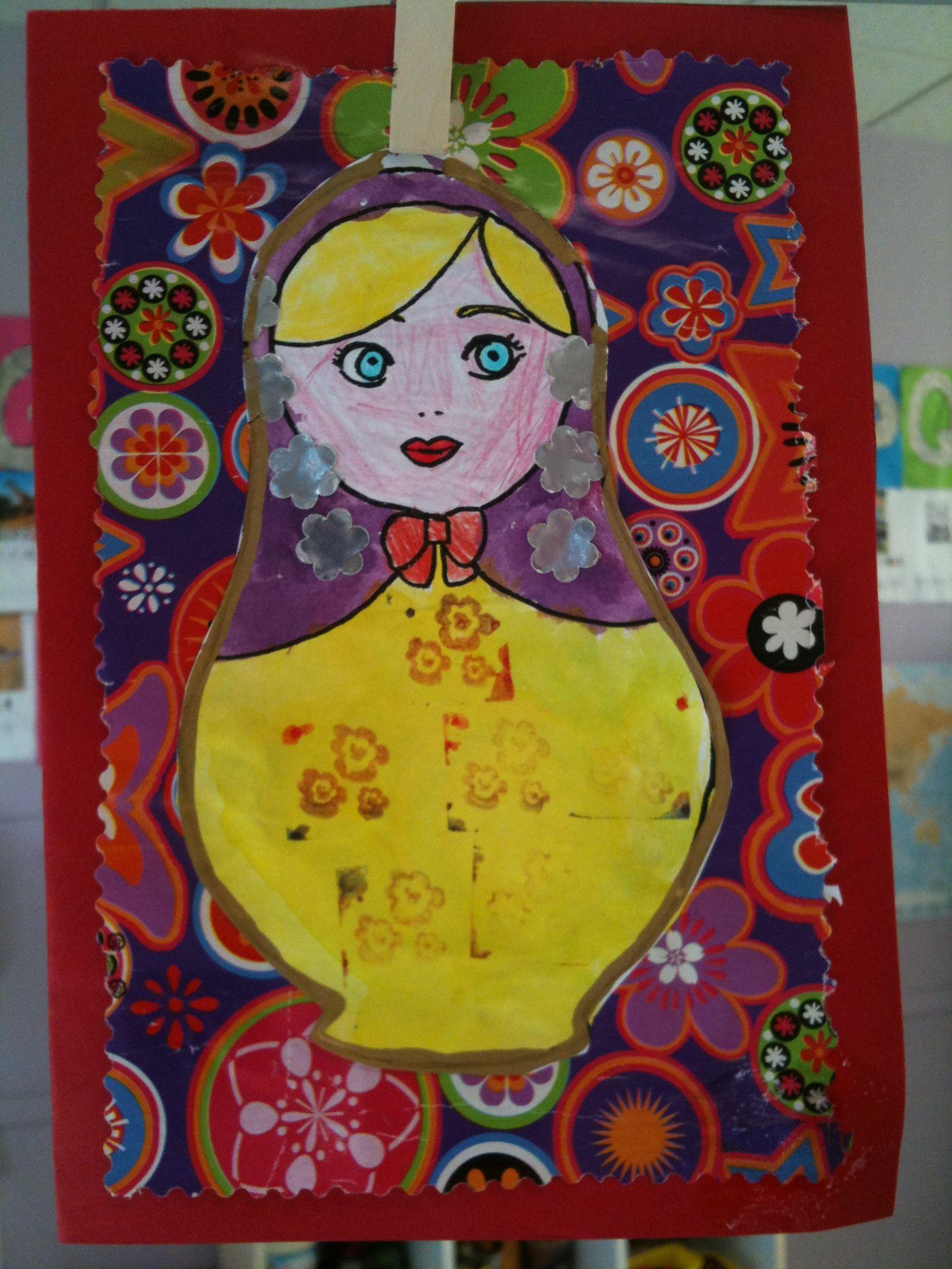 Carte de voeux maternelle art visuel Russie