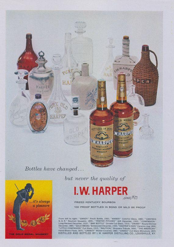 1958 I.W. Harper Whiskey Ad Old Liquor Bottles Vintage | Etsy | Whiskey,  Old liquor bottles, Liquor