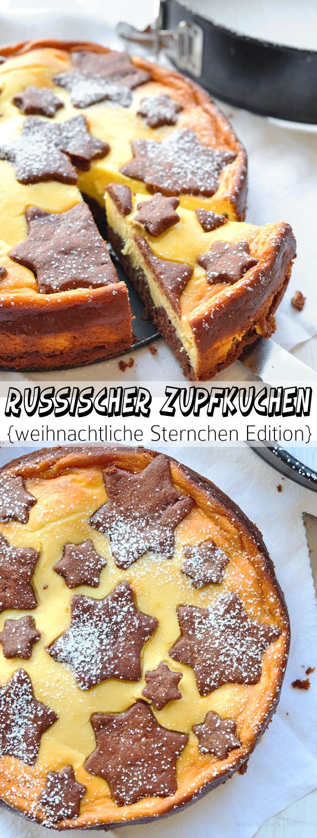 Photo of Russian plucked cake in a Christmas star edition.