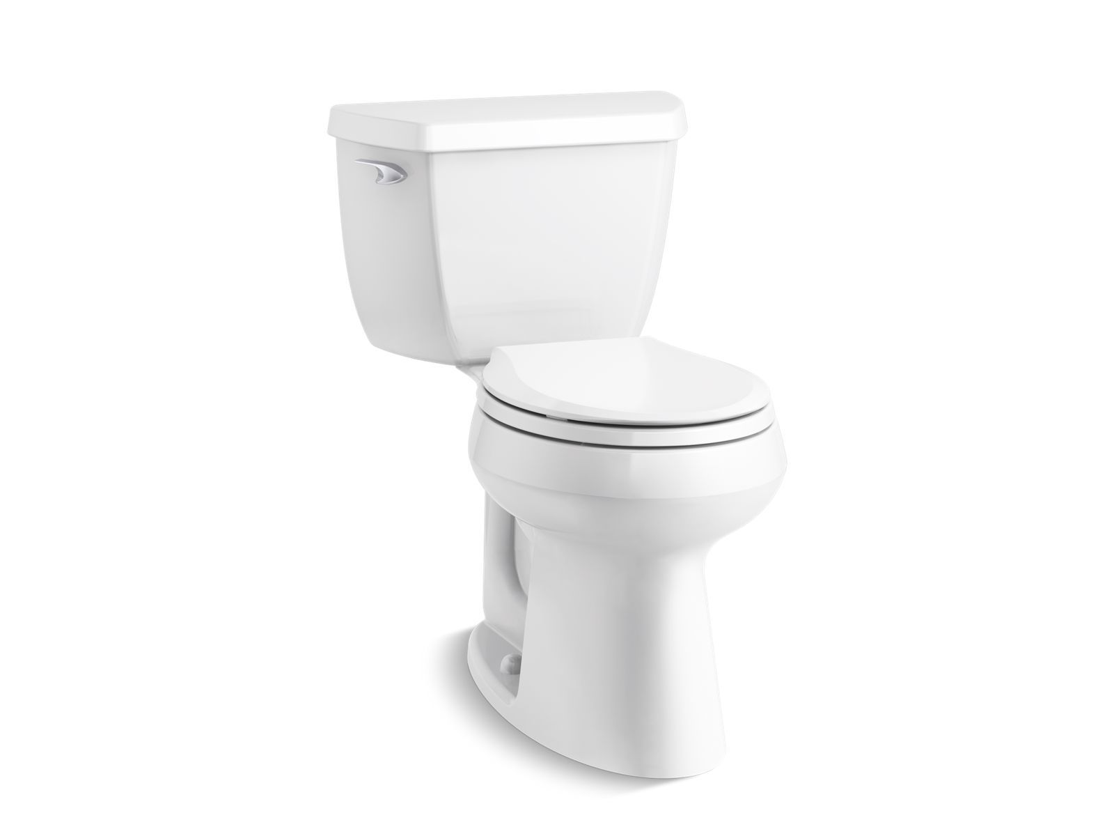 Highline Classic Comfort Height Two Piece Round Front 1 28 Gpf Toilet With Class Five Flush Technology And Left Hand Trip Lever K 5296 Kohler Kohler Toilet Flush Bathroom Update