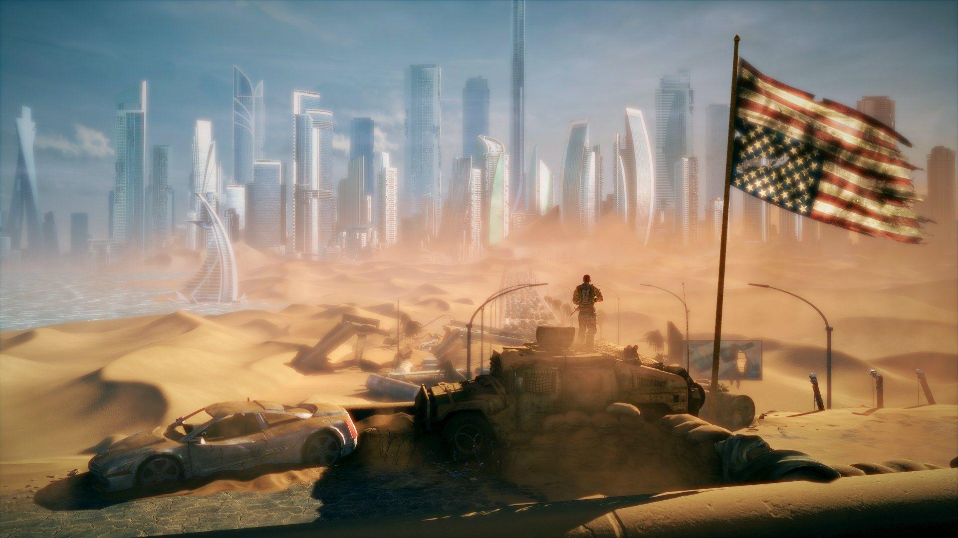 Fantasy Post Apocalyptic Landscape 094369 Jpg 1920 1080 Desert Painting Post Apocalyptic Landscape