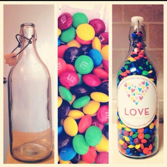 Resultado de imagen para botellas de vidrio decoradas para - Botellas de vidrio para regalo ...