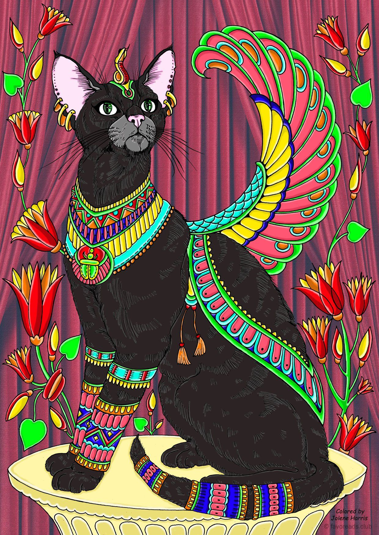 Egyptian Cat Egyptian Cats Animal Drawings Cat Art