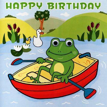 Playdays Childrens Birthday Cards Frog Clipart Pinterest