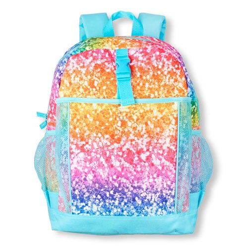 Girls Rainbow Glitter Print Backpack | Portfolio idea | Pinterest ...