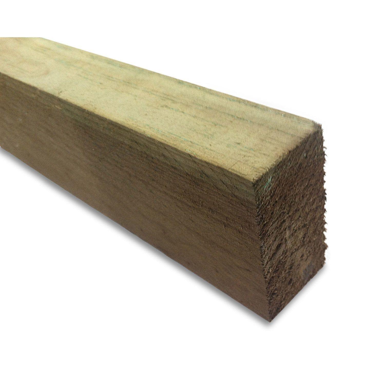 Lambourde Pour Terrasse Bois Resineux Pin Vert L 2 4 M X L 6 Cm