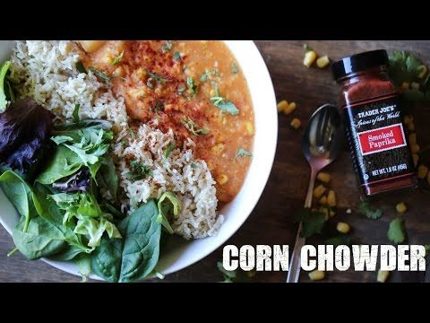 Vegan corn chowder recipe cook with me youtube vegan vegan corn chowder recipe cook with me youtube ccuart Choice Image