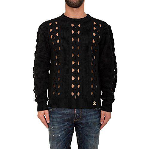 LOVE MOSCHINO Love Moschino Men'S Crew Neck Neckline Jumper Sweater Pullover Black. #lovemoschino #cloth #