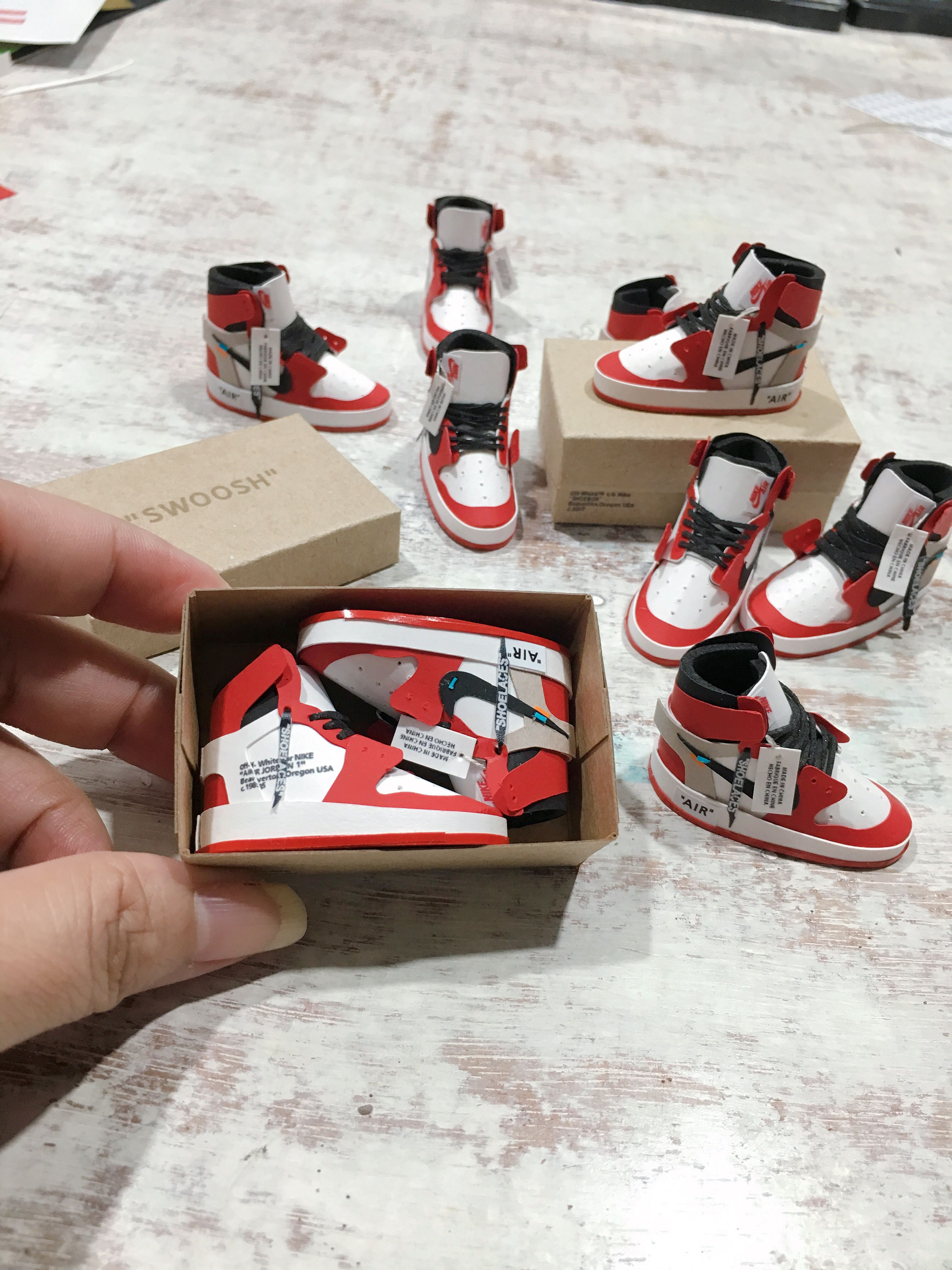 a8ff3bcdbf46d0 Jordan 1 Offwhite  jordans  offwhite  handmade  handcrafted  miniatures   giveaway  mini