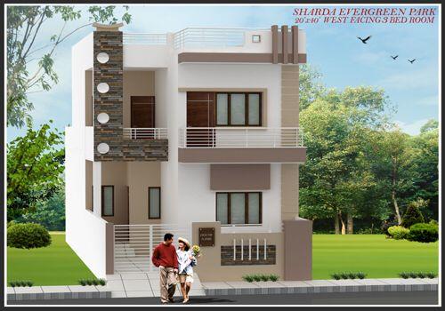 Image From Http Shardainfra Com Portal Wp Content Uploads 2014 03 New West 20x40 2 Jpg Fachadas De Casas Faxadas De Casas Casas