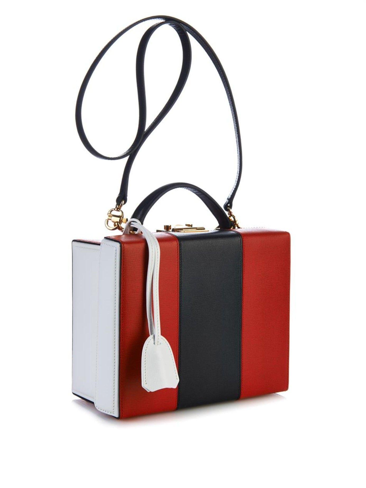 afaa08ab9700 Grace tri-colour leather box bag