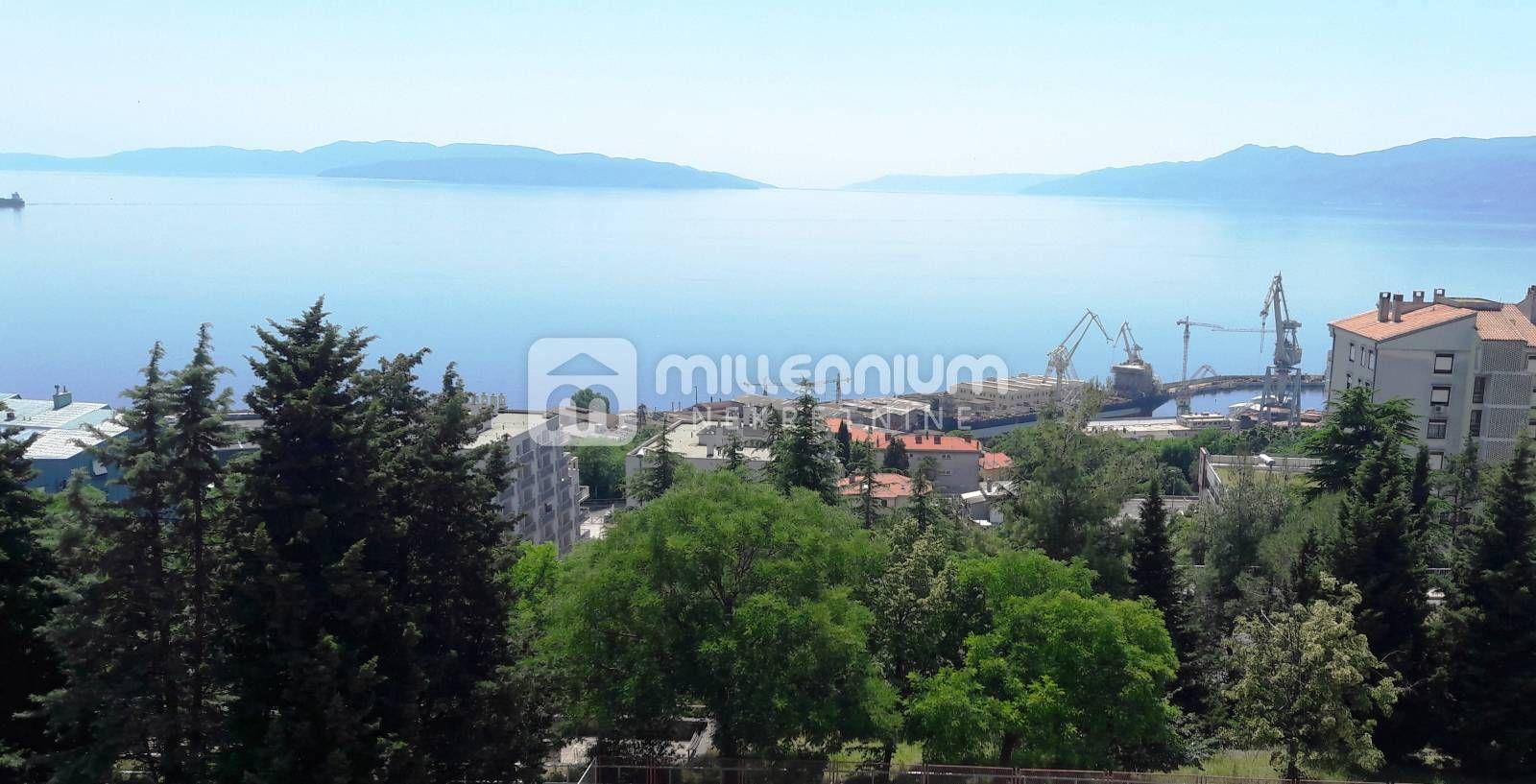 Rijeka, Krnjevo, 1-sobni stan, balkon, pogled na more, Stan