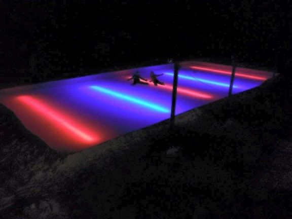 Backyard Ice Rink Lights red line-under the liner led nicelights in 2018 | luca | pinterest