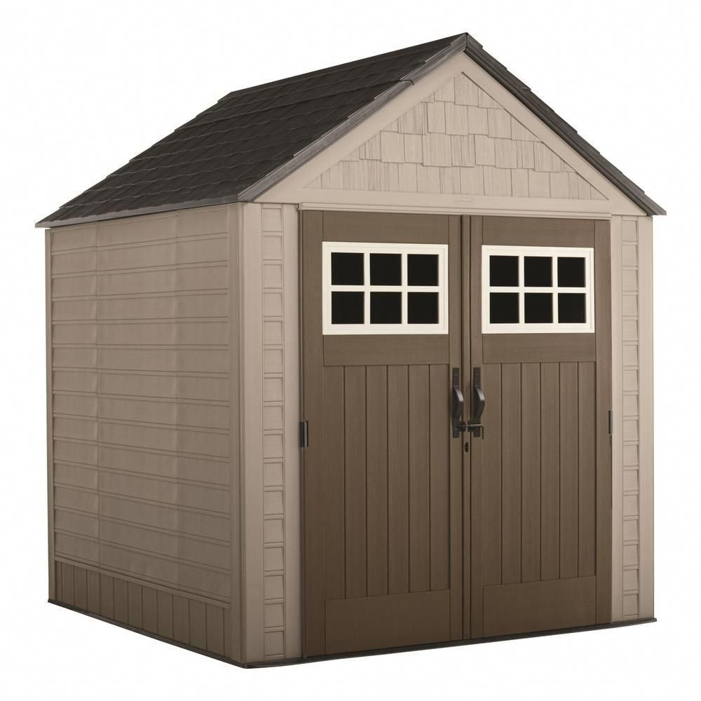 Rubbermaid Big Max 7 Ft X 7 Ft Storage Shed 2035892 Outdoor