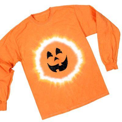 Tie dye pumpkin shirt diy