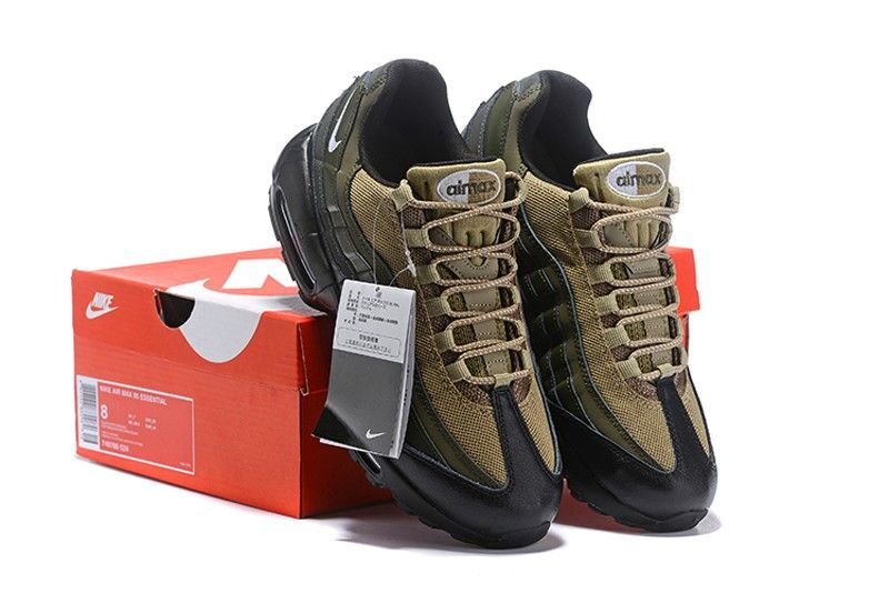 """newest collection c848f a7238 Nike Air Max 95 Essential 749766-024 Men s Running Shoes """"Khaki-Olive Green"""