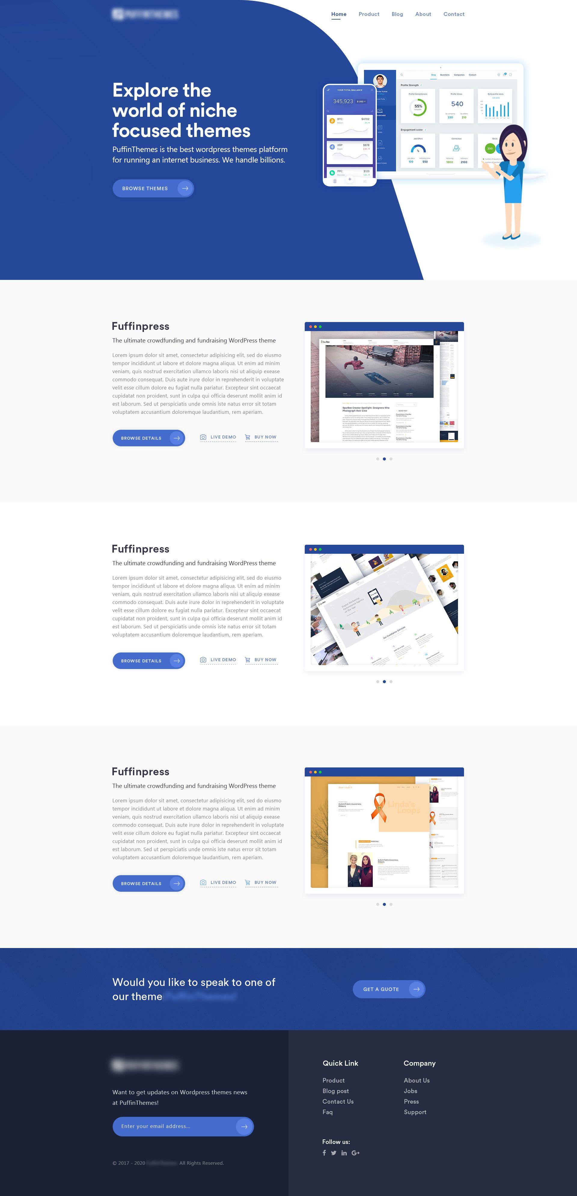 Theme Market Place Concept Landing Page Layout Site Website Layout Marketing