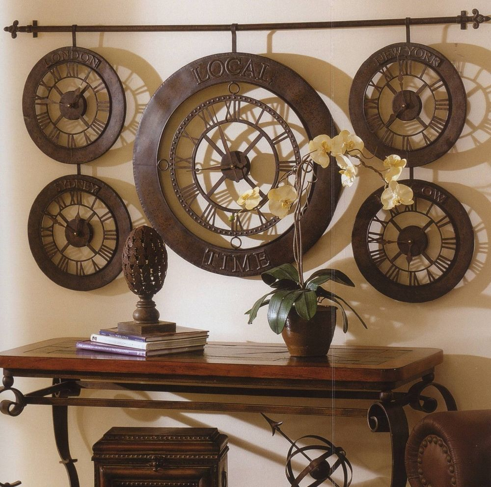 Extra large international times of the world wall clock antique extra large international times of the world wall clock antique bronze new amipublicfo Images
