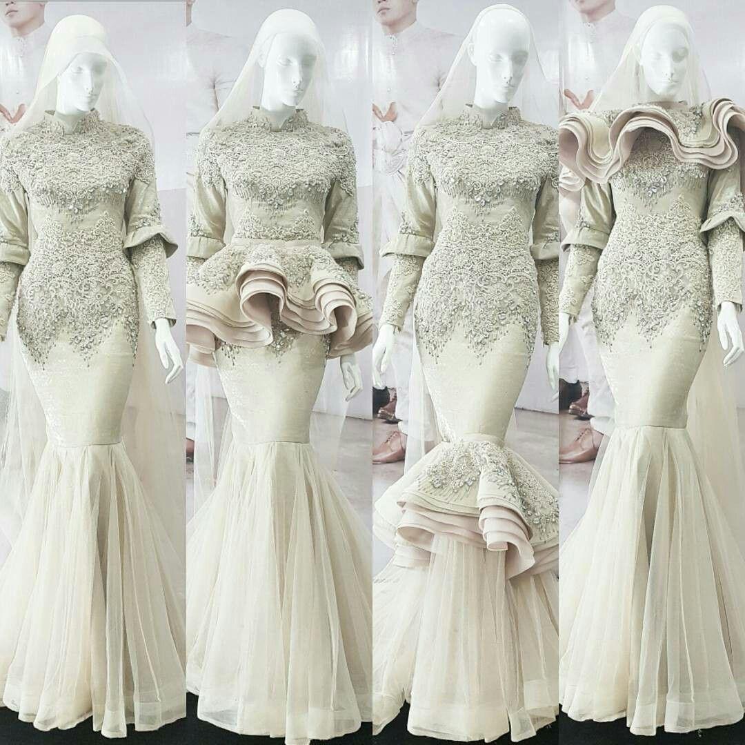 Pin By Ainurrofida On Hijab Wedding Dress In 2018 Pinterest Atasan Raya Beige Shop At Velvet Muslimah Dresses Patterns Modest Gowns