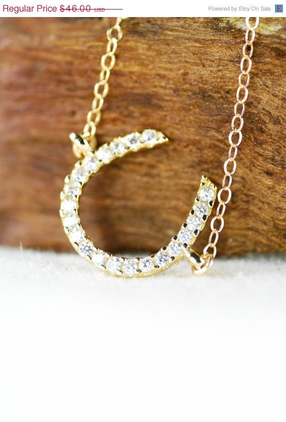 40% off Ku'uaki necklace gold horseshoe by kealohajewelry on Etsy