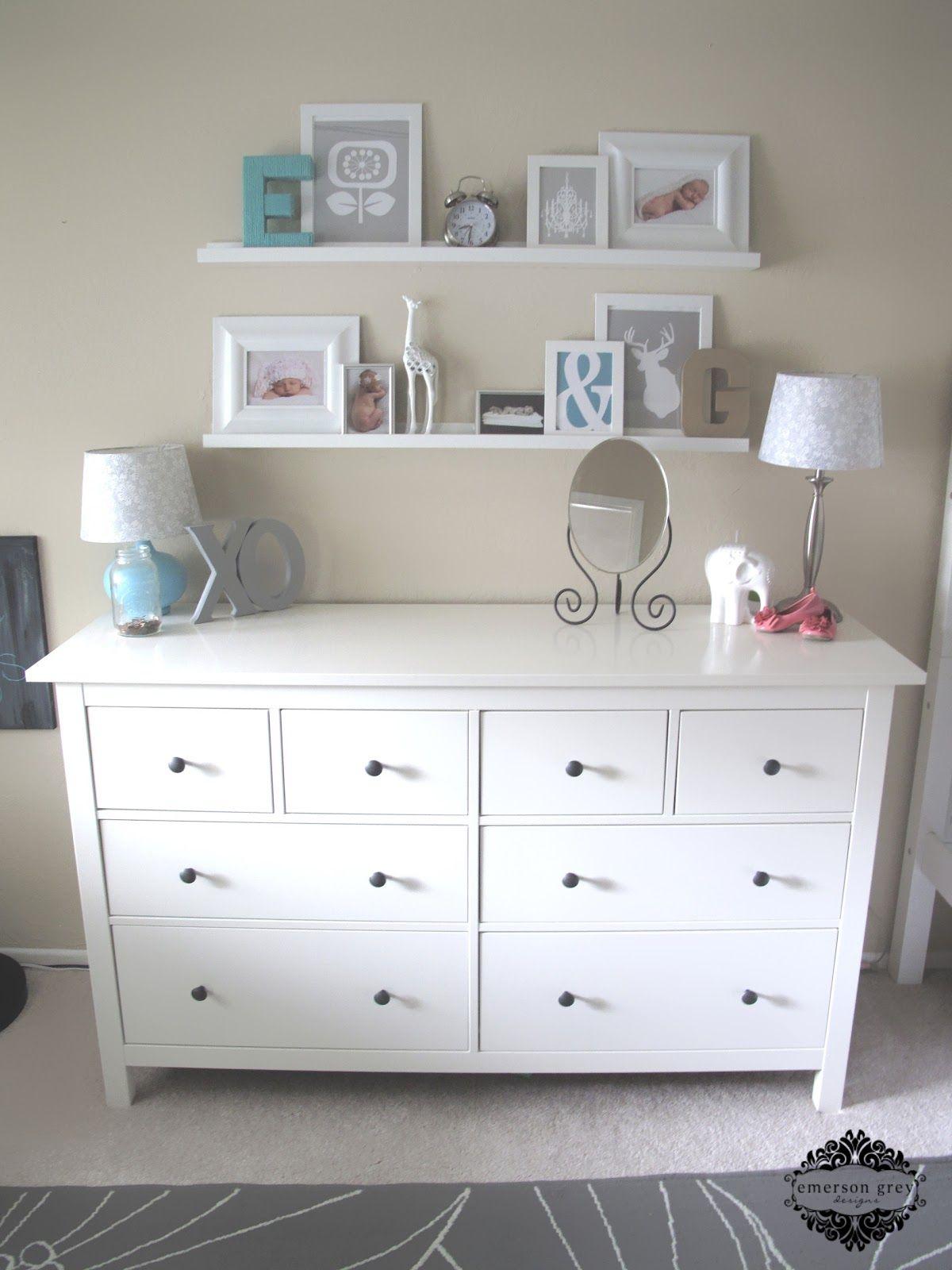 Love the shelves above the dresser. | Bedrooms | Pinterest ...