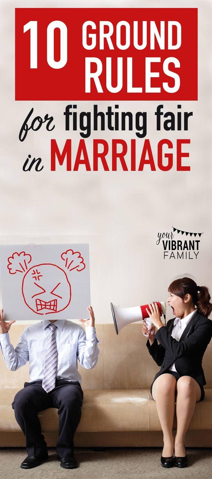Marital arguments advice