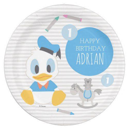 Donald Duck | First Birthday Paper Plate | Disney Birthday Party | Pinterest | Donald duck Birthdays and Disney birthday  sc 1 st  Pinterest & Donald Duck | First Birthday Paper Plate | Disney Birthday Party ...