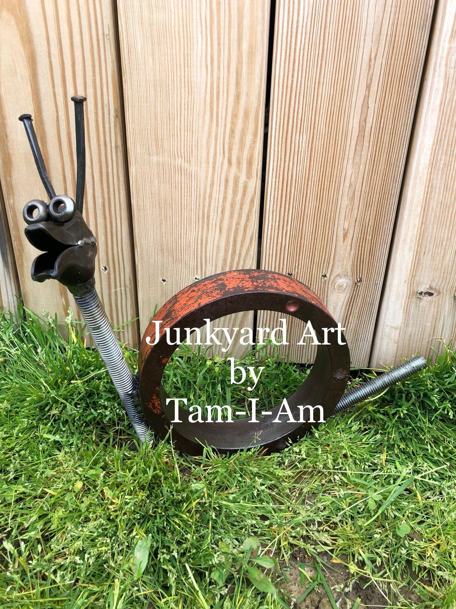 Junkyard Art by Tam-I-Am. Repurposed scrap metal into a ...