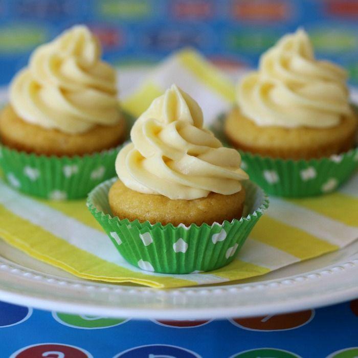 Lemondrop Cupcakes with Creamy Lemon Frosting (GF) #lemonfrosting