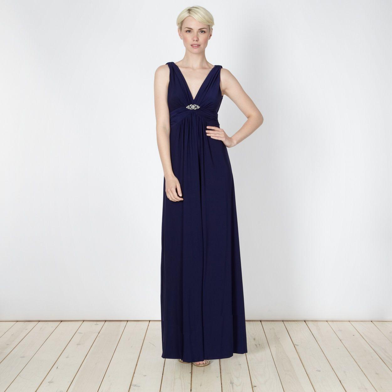Debut dark blue jersey maxi dress at debenhams big wedding debut dark blue jersey maxi dress at debenhams rustic wedding gownswedding ombrellifo Choice Image