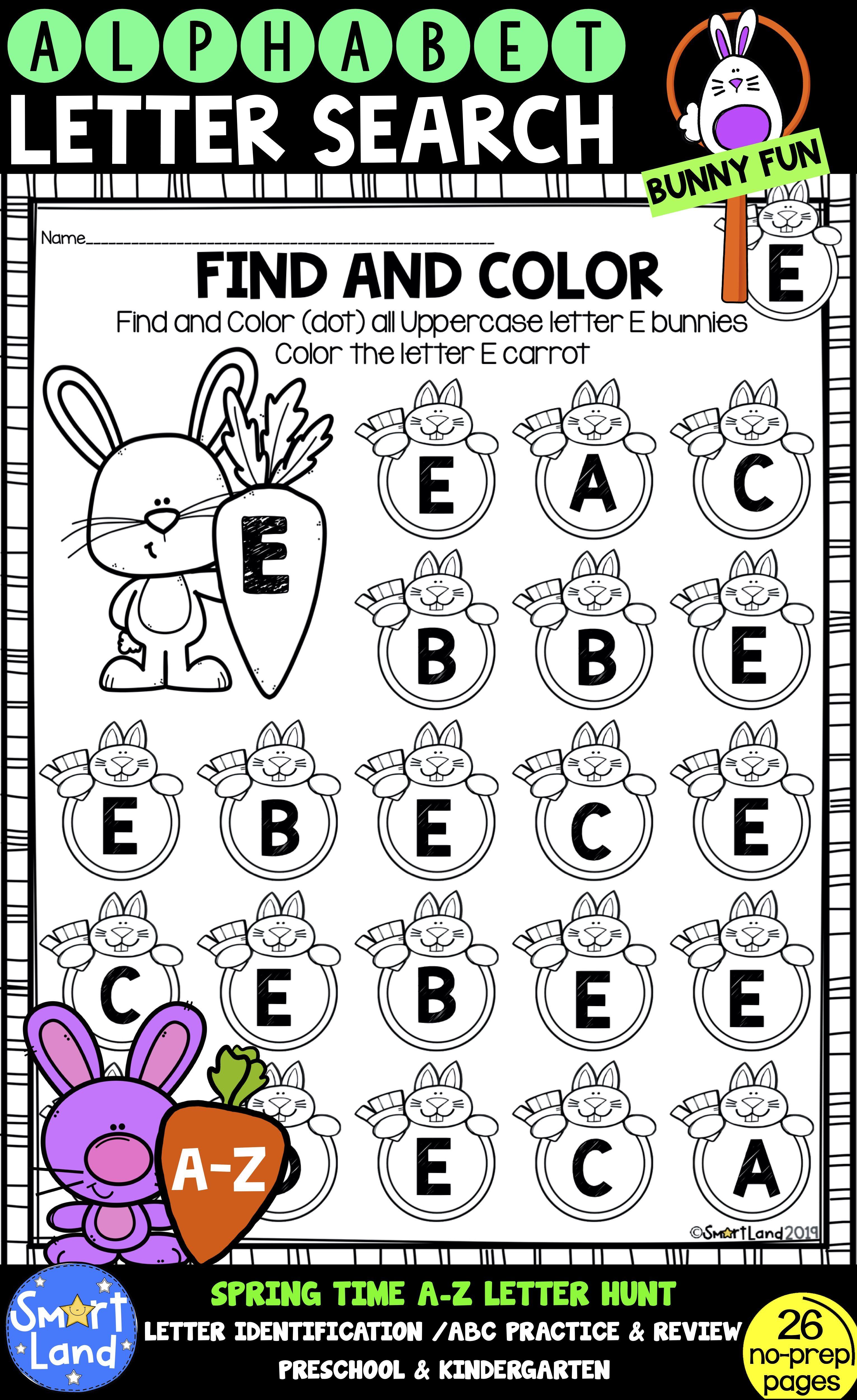 Alphabet Practice Letter Search Bunnyfun