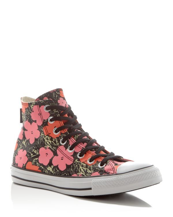 the latest f79aa 5c3e8 Converse Chuck Taylor All Star Andy Warhol Floral High Top Sneakers