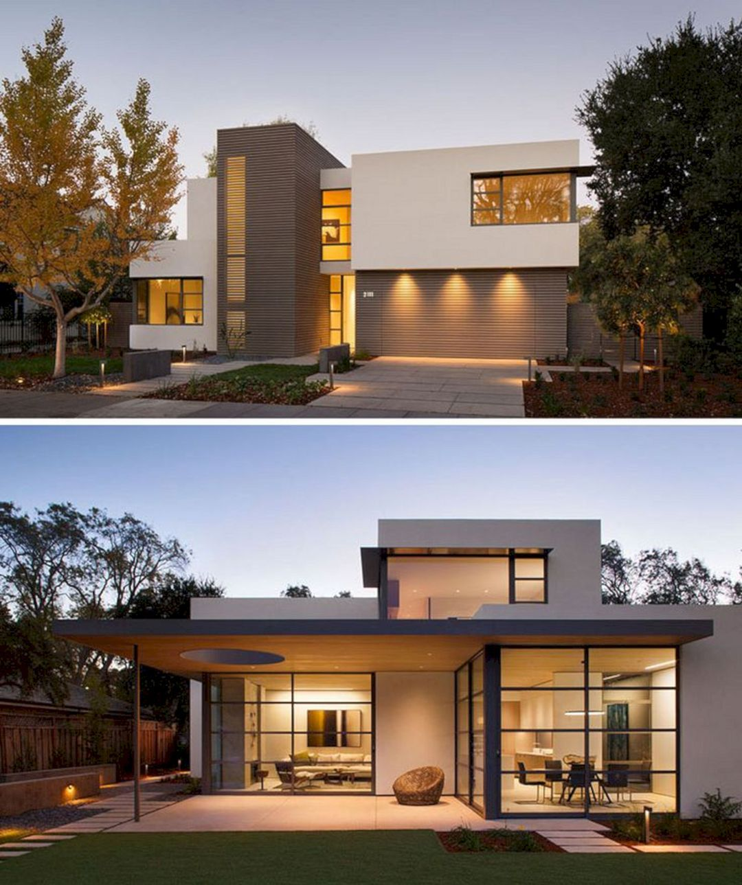 24 Pretty Home With White And Brown House Exterior Combination That You Have To Try Facade House Modern House Plans House Architecture Design