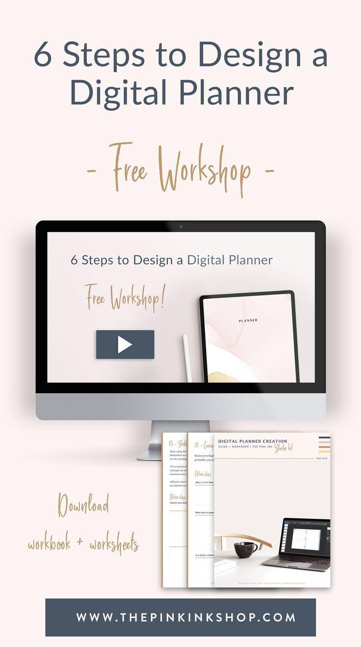 Free 6 Steps to design a digital planner. Free
