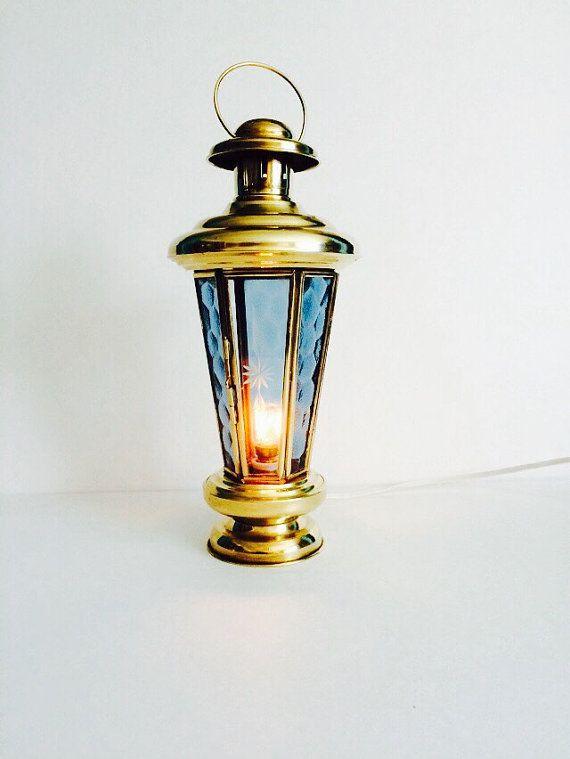 Brass lamp beach decor brass lantern lamp nautical decor accent lamp coastal decor small lamp beach house decor cool lamp beach home decor