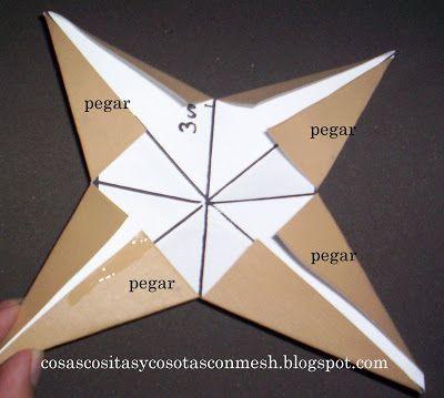 Como Hacer Una Estrella De Papel Grande Paso A Paso Cositasconmesh Estrellas De Papel Como Hacer Adornos Navidenos Origami Navideno