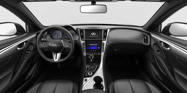 2018 Infiniti Q60 Graphite Leatherette Interior Brushed Aluminum Trim Infiniti Infiniti Usa New Infiniti