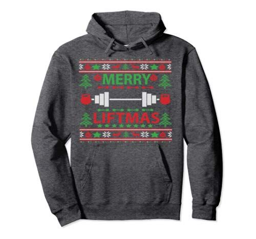 Photo of Merry Liftmas Ugly Christmas Sweater Gym Workout Pullover Hoodie