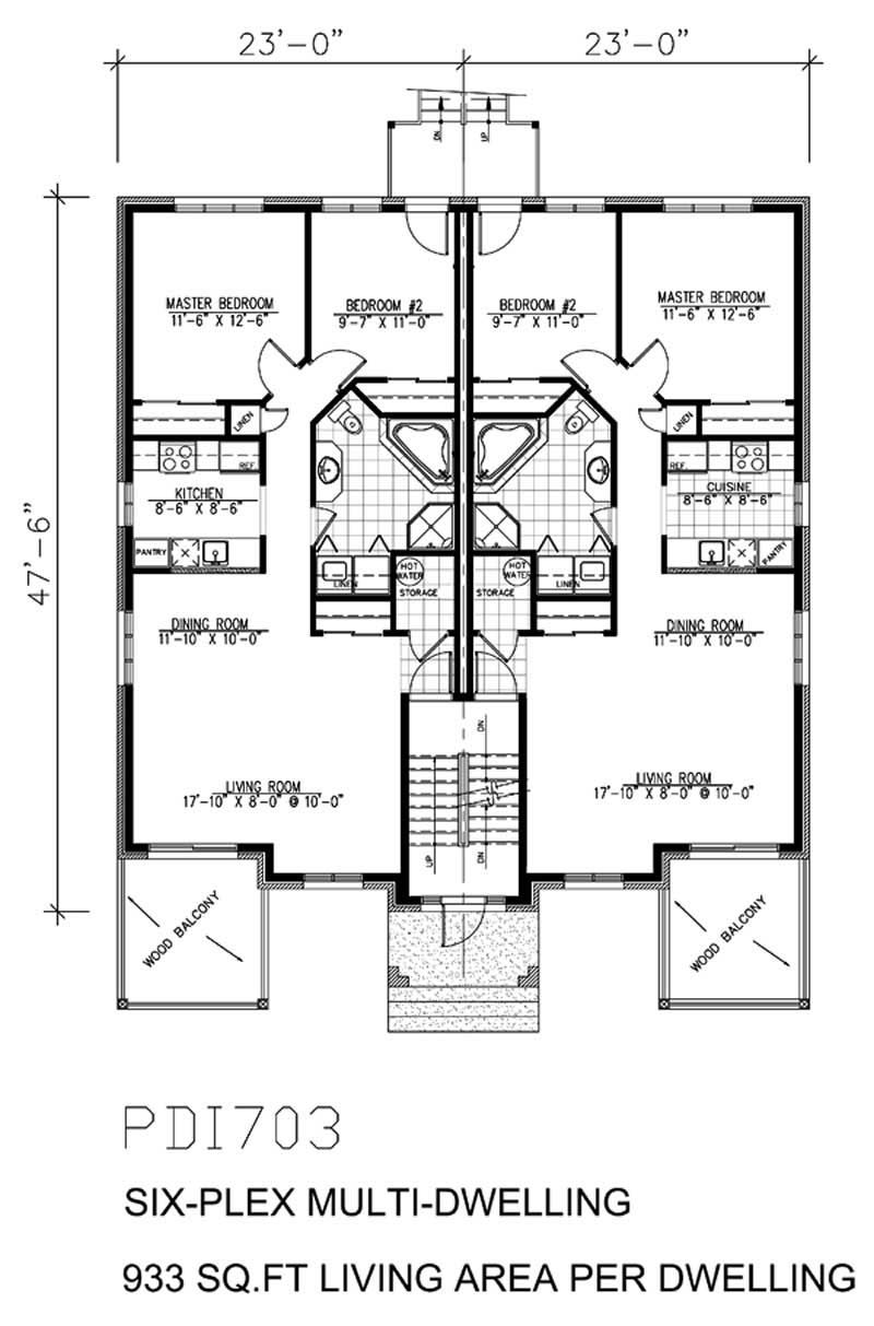 floor plan first story | 4 plex/small multi-family | pinterest