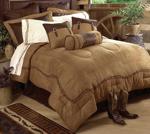 Embroidered Barbwire Cowboy Bedding And Decor