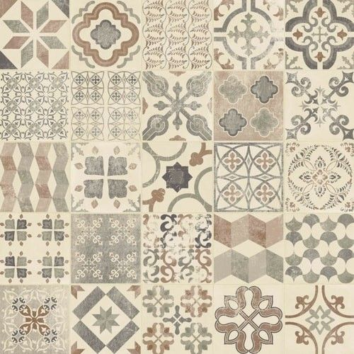Vintage style vinyl floor tiles gurus floor for Vintage look linoleum flooring