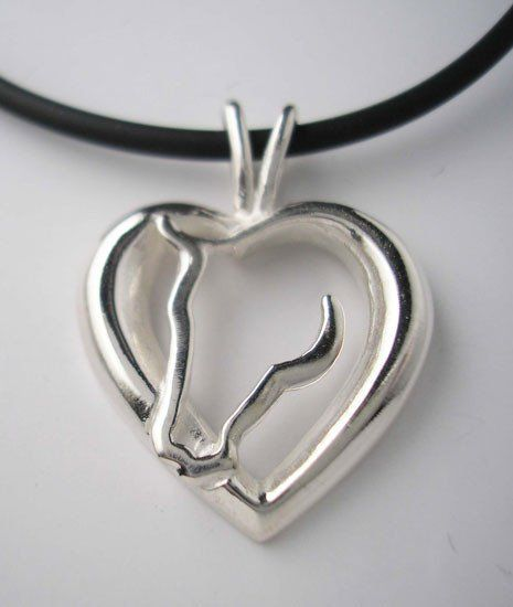 Heart horse pendant necklace sterling silver jamies horse jewelry heart horse pendant necklace sterling silver jamies horse jewelry mozeypictures Gallery
