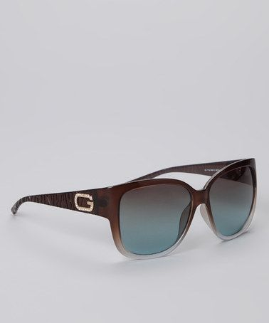 22a71d6ad6 Take a look at this Light Brown Tourist Sunglasses by GUESS on  zulily  today!