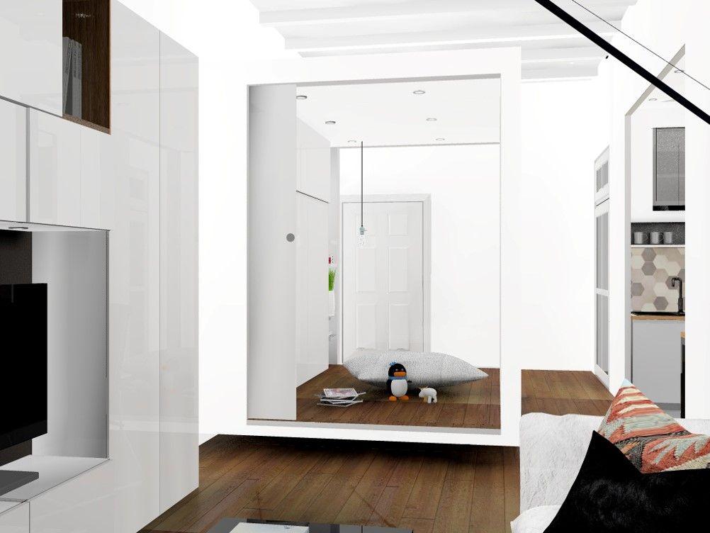 Appartement à barcelonesalonespace polyvalent lit escamotable fermé