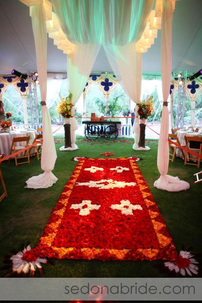 Native American Design For Wedding Reception At Seven Canyons Golf