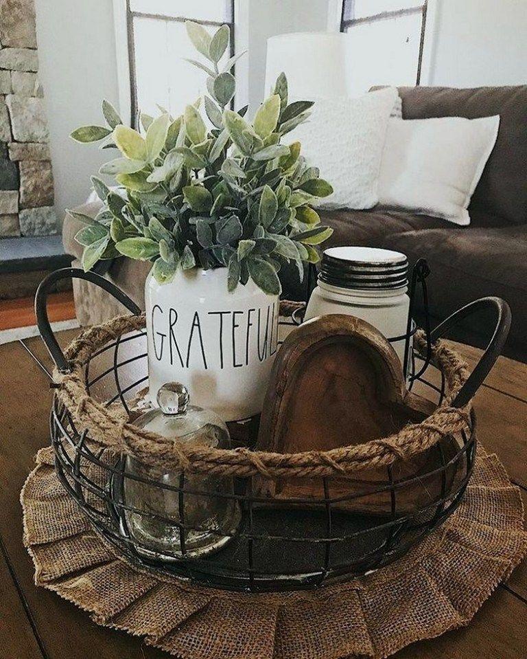 17 beautiful farmhouse coffee table design for living